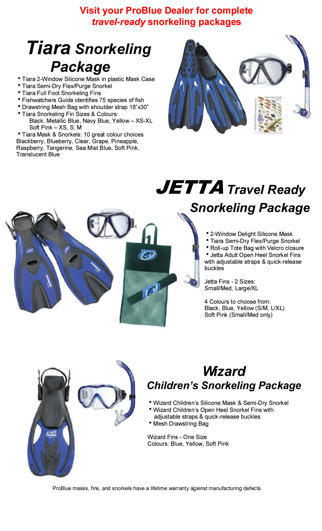 ProBlue Snorkeling Packages