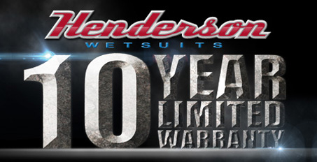 Henderson wetsuits                         have a 10 Year Warranty
